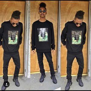 Black Laminate Type Sweater (H&M)